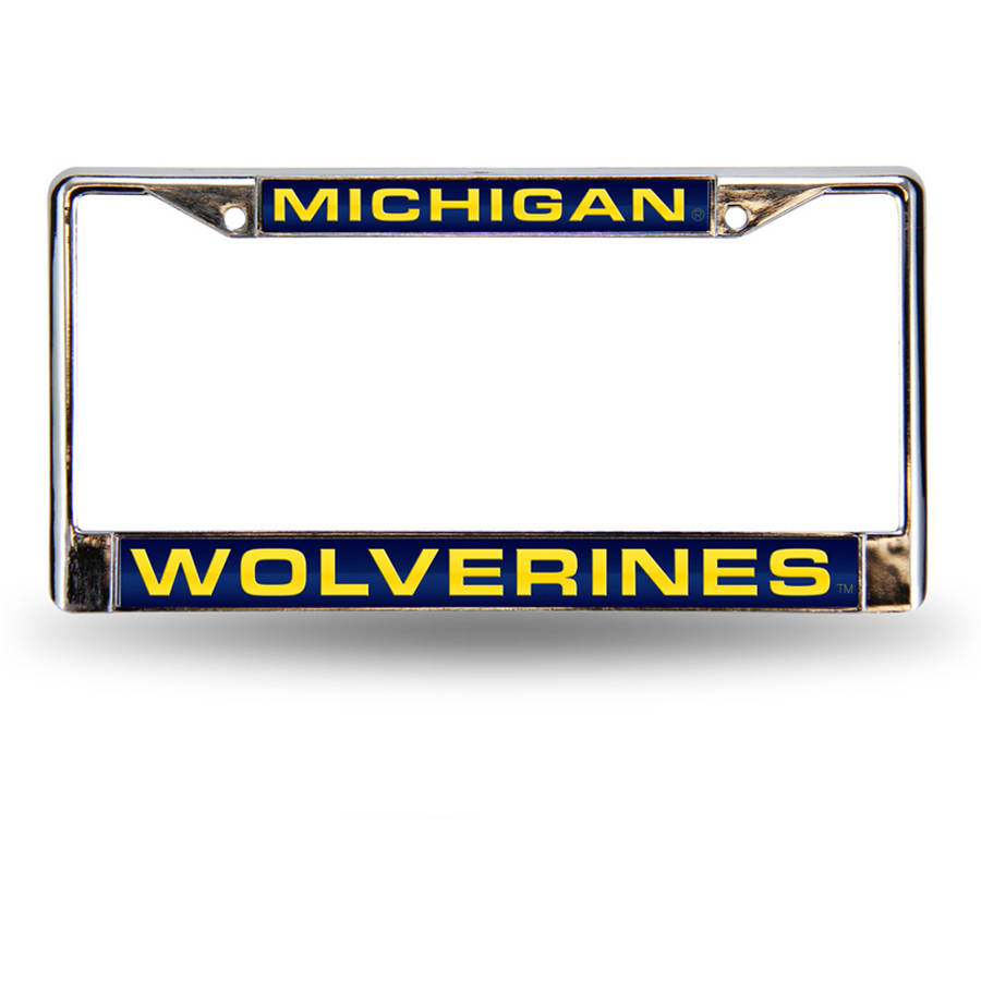 NCAA Michigan Chrome Laser License Plate Frame