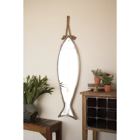 Gwg Outlet Vertical Fish Mirror With Rope Hanger (Fish Mirror)