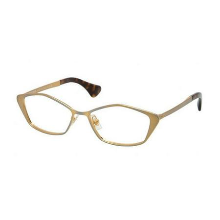 Miu MIu MU53LV-LAF1O1 Oval Women's Golden Frame Genuine Eyeglasses (Miu Miu Frames 2017)
