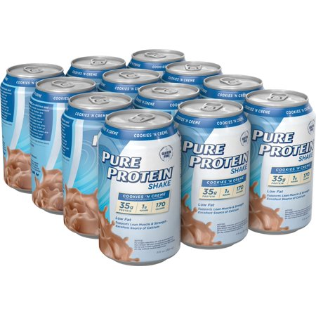 Pure Protein Shake, 35 Grams of Protein, Cookies & Cream, 11 Oz, 12