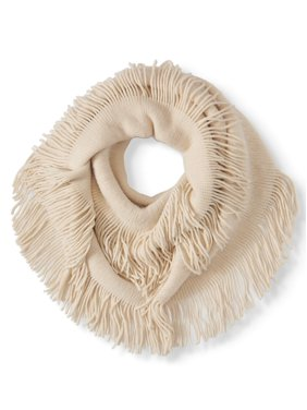 Twig & Arrow Women's Soft & Cozy Long Fringe Loop Scarf