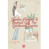 Garden Planner & Journal Gift For Gardening Lovers: 4 Month Calendar Diary Paperback Notebook Large - 6 x 9 inch - Decorative Flower Garden Organizer (Paperback)