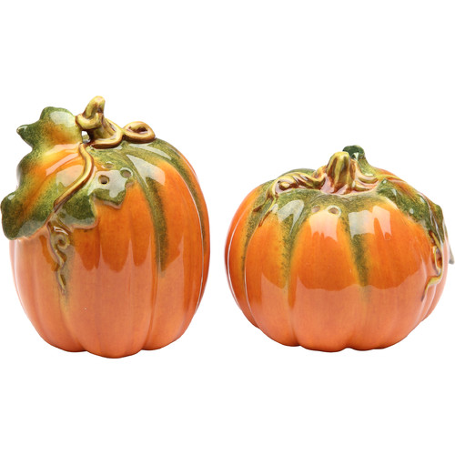 Cosmos Gifts Pumpkin Salt and Pepper Set by Appletree Designs Cosmos