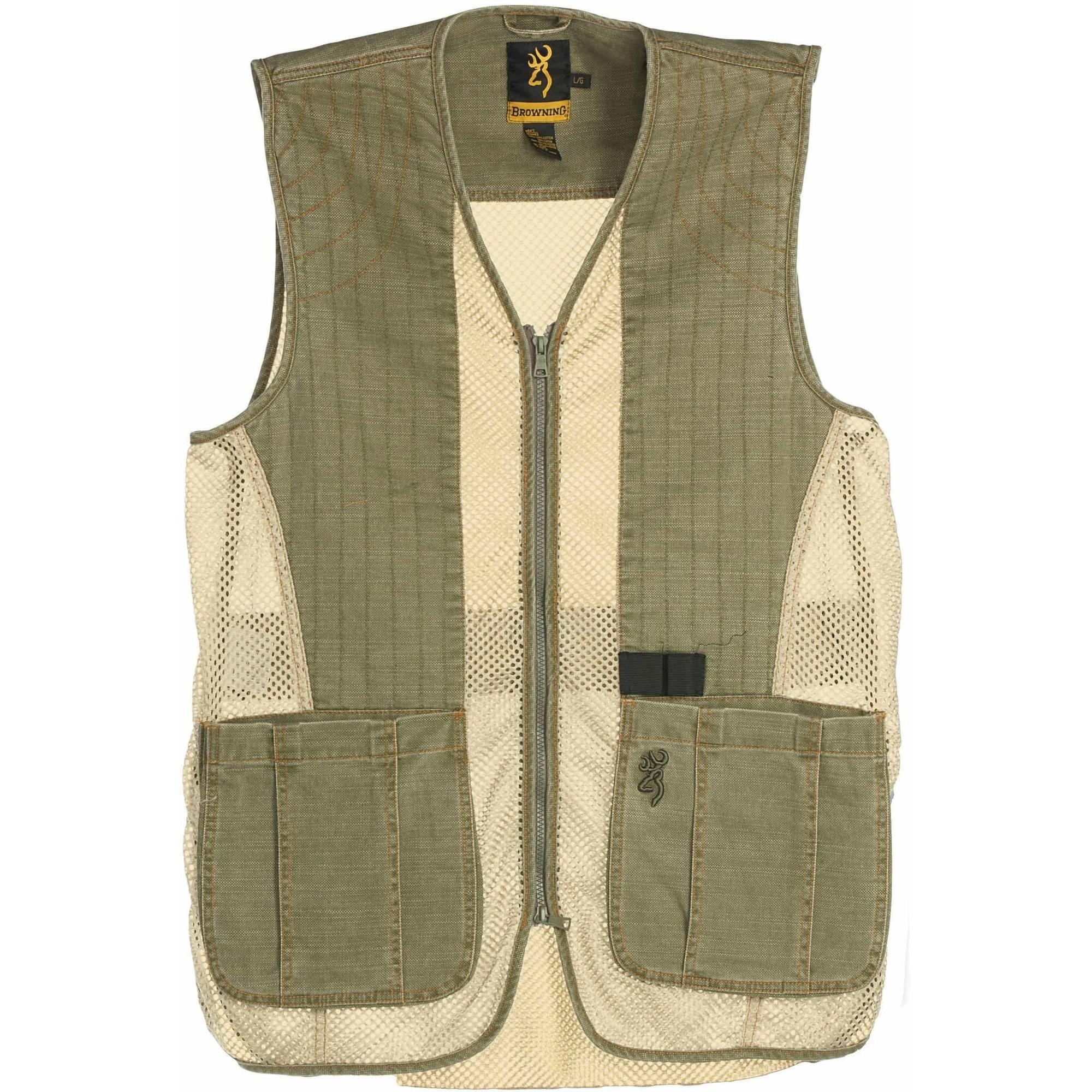 Browning Vest Rhett Mesh Olive/Tan 2Xl 3050297405