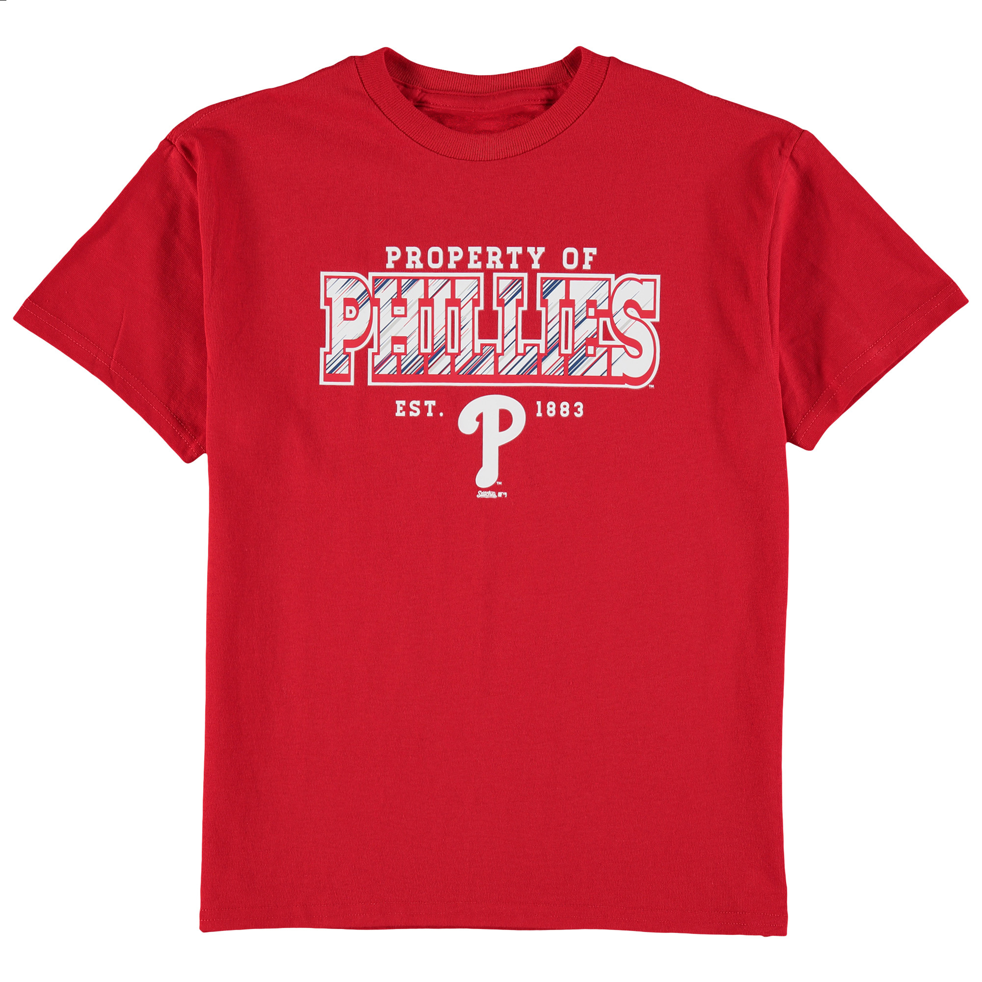 Philadelphia Phillies Stitches Youth Property Of Team T-Shirt - Red