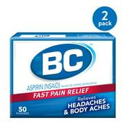 BC Aspirin Pain Relief Powder, Relieves Headaches, 50 Count