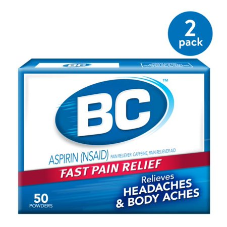 (2 Pack) BC Fast Pain Relief Aspirin Powder Stick Headaches & Body Aches, 50.0 (Best Over The Counter For Body Aches)