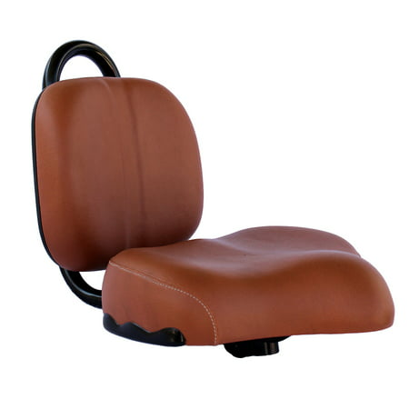 Bicycle Seat - Brown Bicycle Seat with Backrest