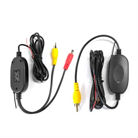 Podofo 2.4 Ghz Wireless Rear View Camera RCA Video Transmitter & Receiver Kit for Car Rearview Monitor FM Transmitter & Receiver 2.4 Ghz Video Transmitter