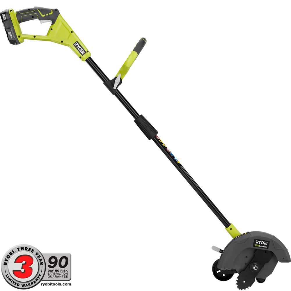 Ryobi ONE+ 9 in. 18-Volt Lithium-Ion Cordless Edger 1.3 Ah Battery and Charger Included P2310 by