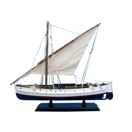 Second Wave 19 Wood Model Fishing Boat Replica