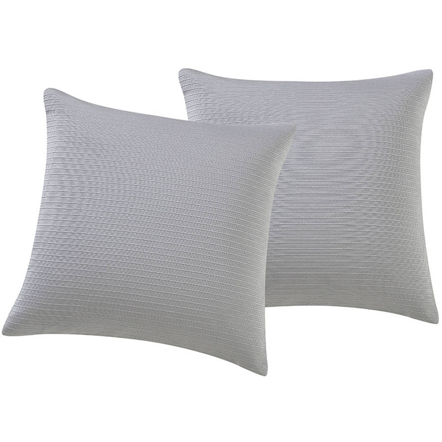 "Mainstays Wide Rib 18"" x 18"" Square Decorative Throw Pillow, Set of 2 by Victoria Classics"