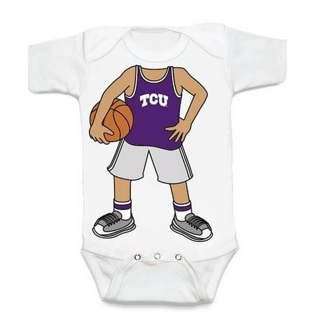 Texas Christian TCU Horned Frog Heads Up! Basketball Baby Onesie