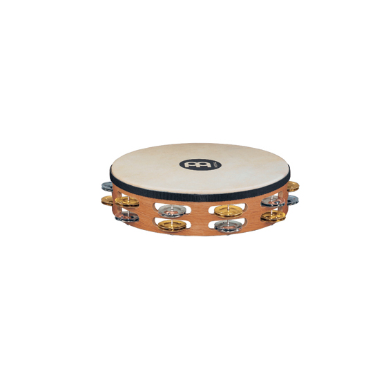 Meinl Headed Recording-Combo Tambourines 2 Rows Super Natural by Meinl
