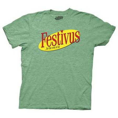 Ripple Junction Seinfeld Adult Unisex Festivus for the Rest of Us Crew T-Shirt Heather (Festivus For The Rest Of Us Shirt)