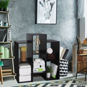 Furinno 12221 Parsons Staggered Cube Bookcase with 6 Shelves
