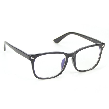 Cyxus Matte Black Computer Glasses for Anti Blue Light UV Reduce Eyestrain, Protect Eyesight Clear Lens Gaming