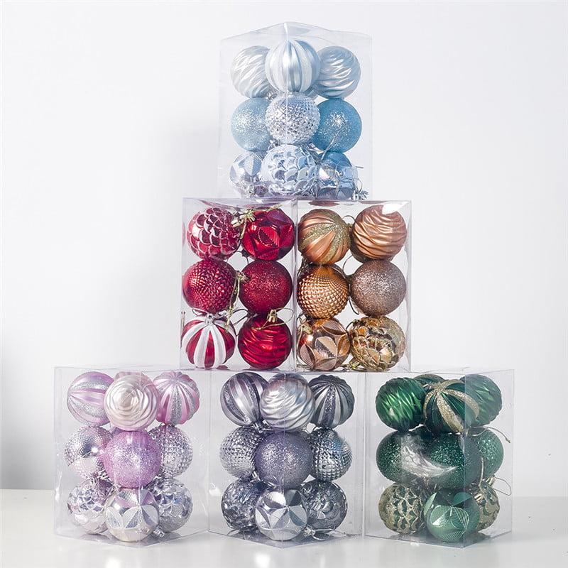 Details about  /48PCS  Christmas Decorations Baubles Tree Xmas Balls Party Wedding Xmas Ornament