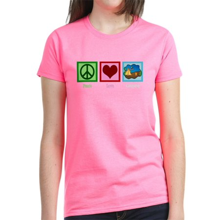25d27dbf1b064e CafePress - CafePress - Peace Love Camping Women s Dark T Shirt - Women s  Dark T-Shirt - Walmart.com