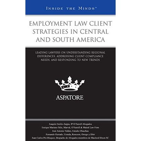 Employment Law Client Strategies in Central and South America : Leading Lawyers on Understanding Regional Differences, Addressing Client Compliance Needs, and Responding to New (Groups In Schools Preparing Leading And Responding)