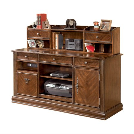 Ashley Hamlyn Home Office Short Desk Hutch Medium Brown