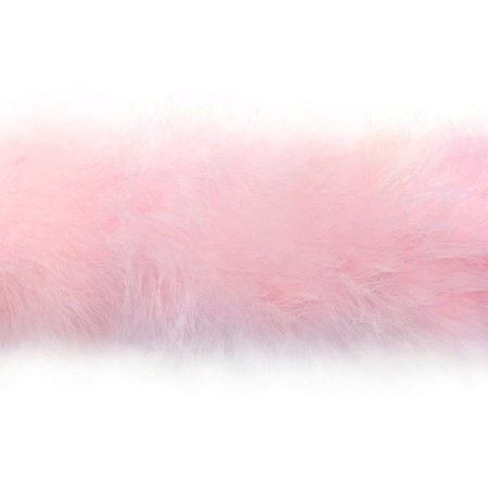 2 Yards - Baby Pink Marabou Feather Boa