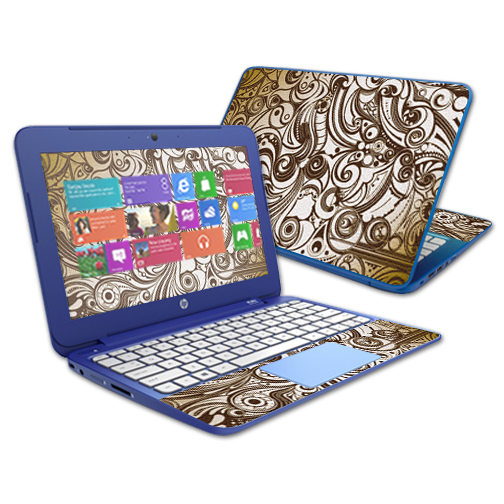"""Mightyskins Protective Vinyl Skin Decal Cover for HP Stream 11"""" Laptop Cover wrap sticker skins Vintage Swirls"""