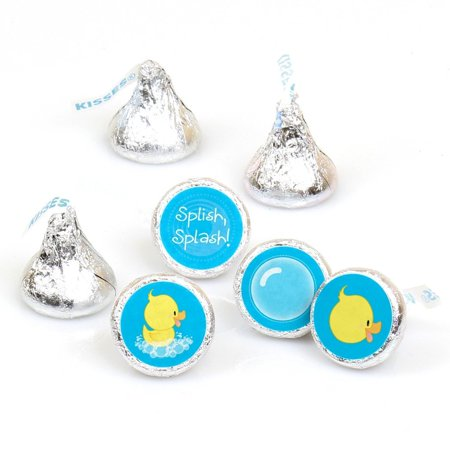 Ducky Duck - Party Round Candy Sticker Favors Labels Fit Hershey's Kisses (1 sheet of 108)