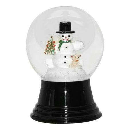 Snow Snowman (Snowman with Bear Snow Globe)