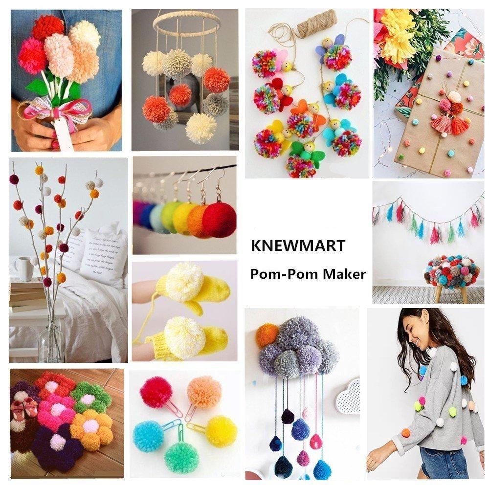 4 Size Pompom Maker Fluff Ball Weaver Knitting Needle DIY Tool Kit Bobble Craft