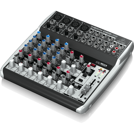 Behringer Q1202USB 12-Input 2-Bus USB Audio Interface Mixer w/ XENYX Mic Preamps British EQ & Compressors