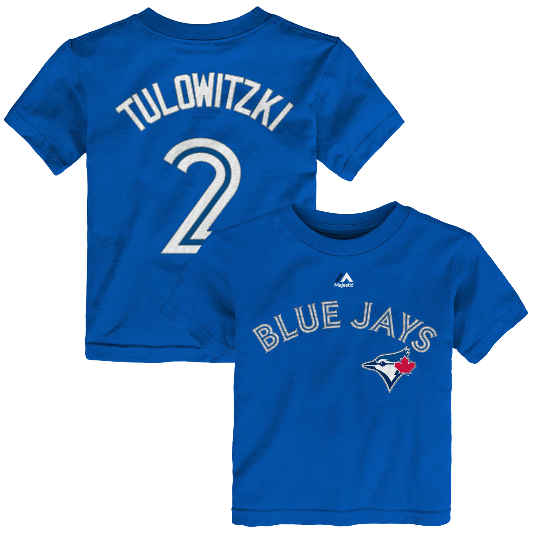 Troy Tulowitzki Toronto Blue Jays Majestic Toddler Player Name & Number T-Shirt - Royal