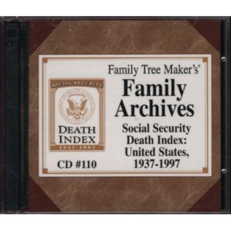 Family Tree Makers Family Archives  Social Security Death Index  United States  1937 1997  Cd  110