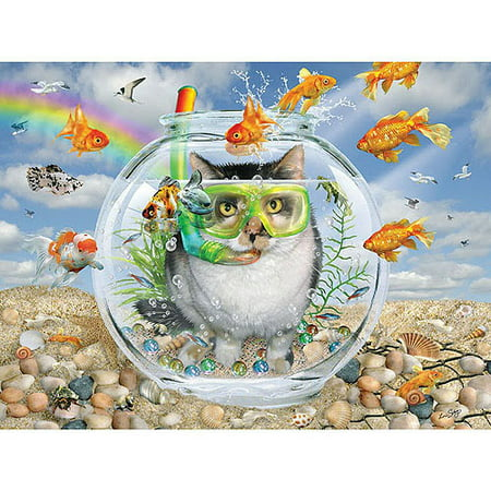 White mountain puzzles cat fish puzzle 550 pieces for Whiting fish at walmart