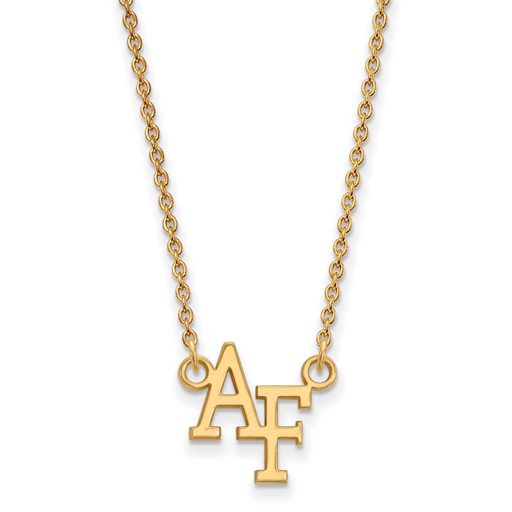 Air Force Small (1/2 Inch) Pendant w/Necklace (10k Yellow Gold)