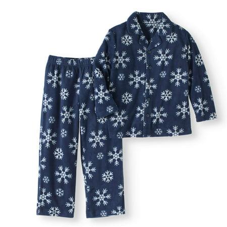 Girl's family pajamas snowflake 2 piece sleepwear set