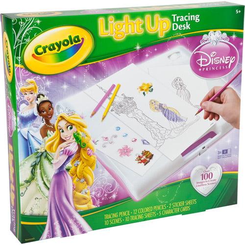Disney Princess Crayola Light Up Tracing Desk Walmart Com