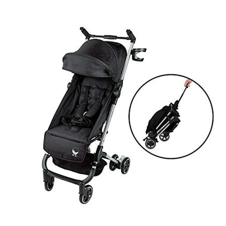 Babyroues Traveler Stroller, Fits In Airplane Overhead Bin, Large Canopy, Full Recline, One Hand Pull Handle, Weighs ONLY 10LBS, Compact, Perfect From Newborn To 4 Years Old (Black)