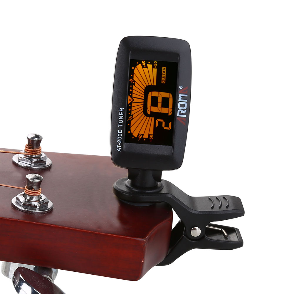 Walfront Electric Tuner Battery Operated Lcd Screen Clip On Tuning