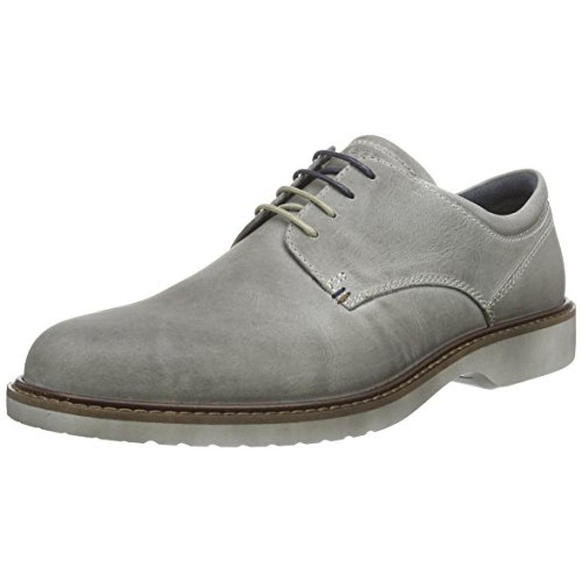 ECCO Mens Ian Leather Plain Toe Derby Shoes by Ecco
