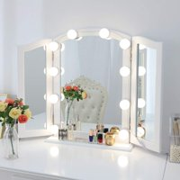 Mirror Lighting For Makeup Portable Hollywood Style Vanity Mirror Lights, LED Makeup Light Kit with 10 Cosmetic Dressing Bulb, Dimmable Lighting