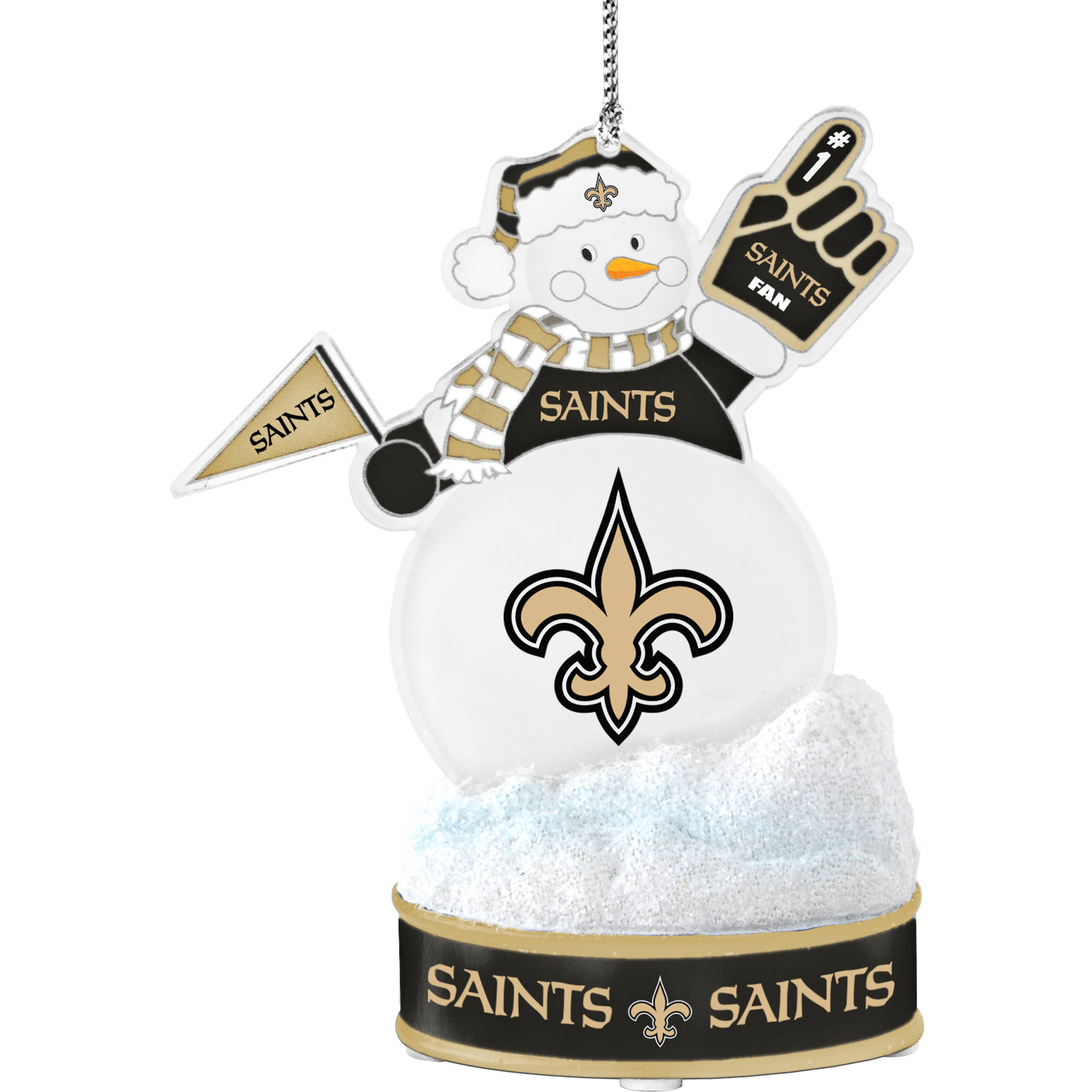 Topperscot by Boelter Brands NFL LED Snowman Ornament, New Orleans Saints