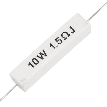 - 10W 1.5 Ohm 5% Ceramic Cement Power Resistor 10 Watt 5 Pcs