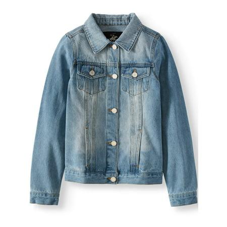 Girl Denim Jacket (Denim Jacket with Pockets (Little Girls & Big)