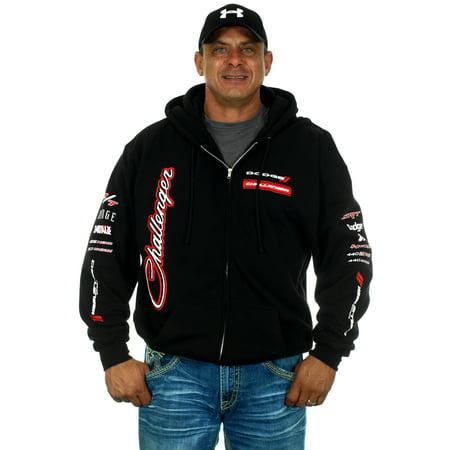 Doggie Sweatshirt - Men's Dodge Challenger Zip Up Hoodie