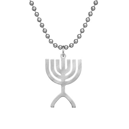 Military Issue MENORAH With Beaded Chain - 24
