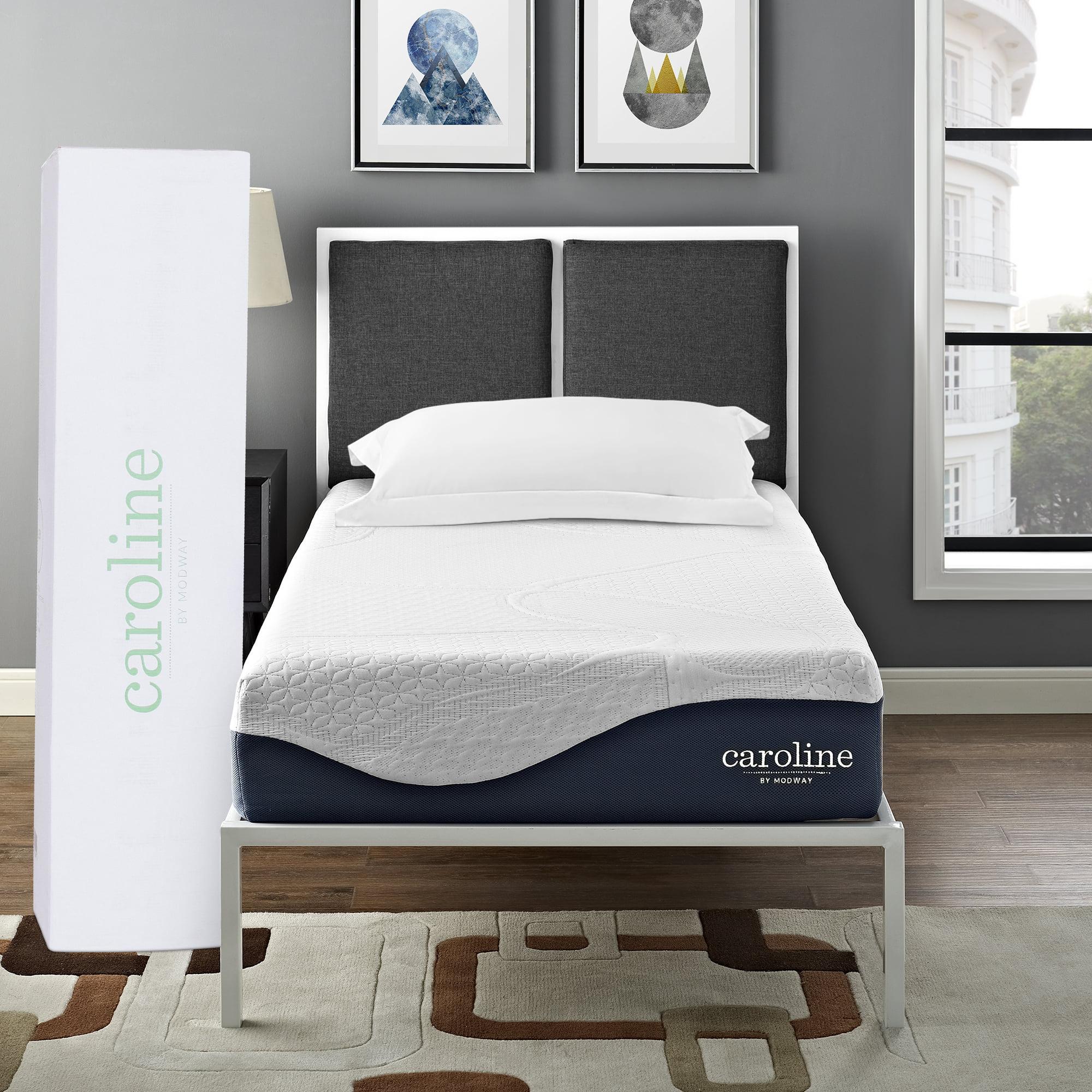 "Modway Caroline 10"" Triple-Layer Memory Foam Mattress, Multiple Sizes"