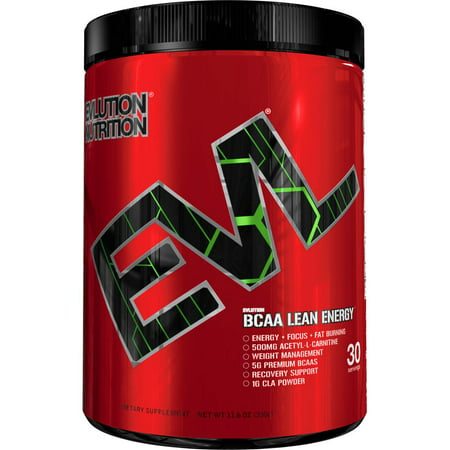 Evlution Nutrition BCAA Lean Energy - High Performance, Energizing Amino  Acid Supplement for Muscle Building, Recovery, and Endurance, 30 Servings,
