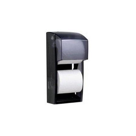 KIMBERLY-CLARK PROFESSIONAL* Coreless Double Roll Bath Tissue Dispenser, 6 6/10 x 6 x13 6/10, Plastic, Smoke