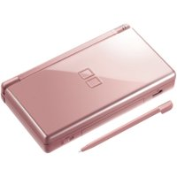 Refurbished Nintendo DS Lite - Metallic Rose with Stylus and Wall Charger